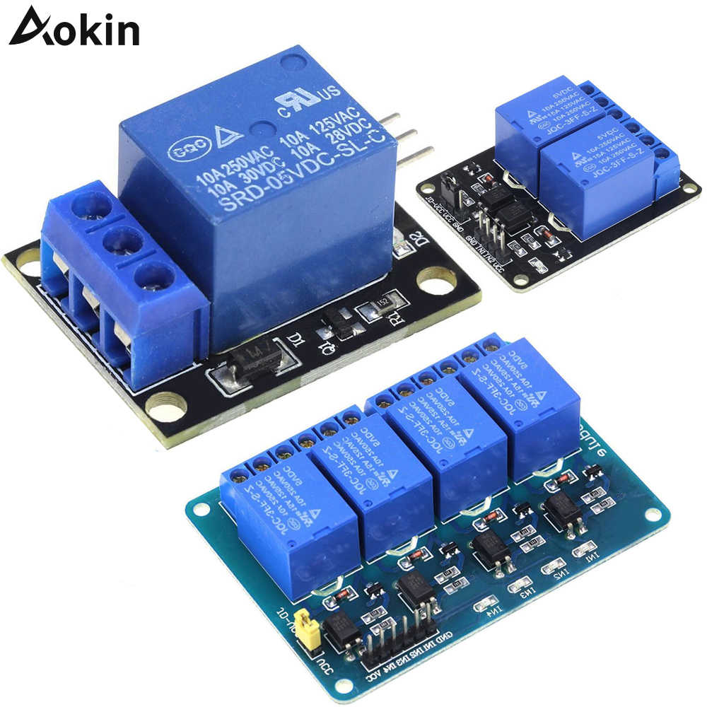 5V Low Level Trigger One Two Four Eight 1 2 4 8 Channel Relay Module Interface Board PIC AVR DSP ARM MCU Shield For arduino