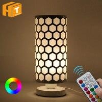 Fashion Modern Table Lamp With Remote Controller Home Bedside Bedroom Desk Lamp Lighting + RGBW/RGBWW Bulb