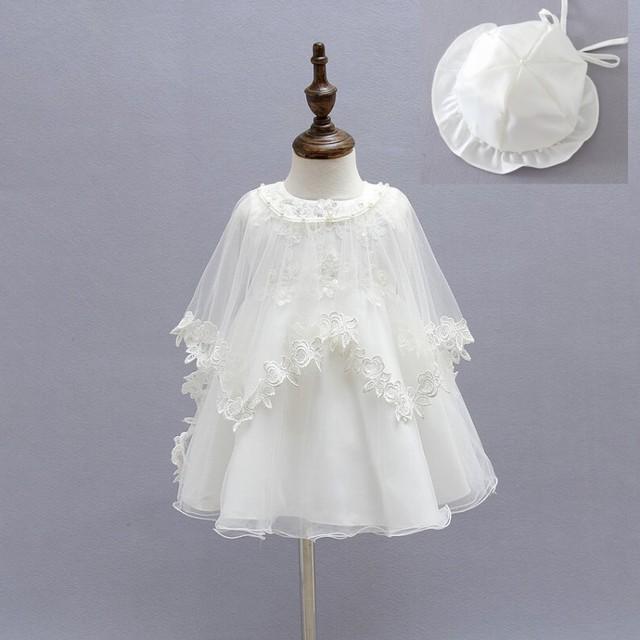 Ccsme dhl 2017 nuevo encaje de tul bebé girls kids dress partido sin mangas de dress + cabo poncho desgaste del bebé sombreros de la boda de san valentín