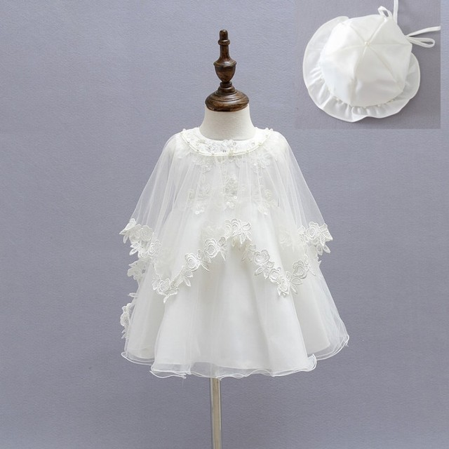 d08653b4f04 EMS DHL Free 2017 New Lace Tulle Baby Girls Kids dress Party Sleeveless  Dress + Cape