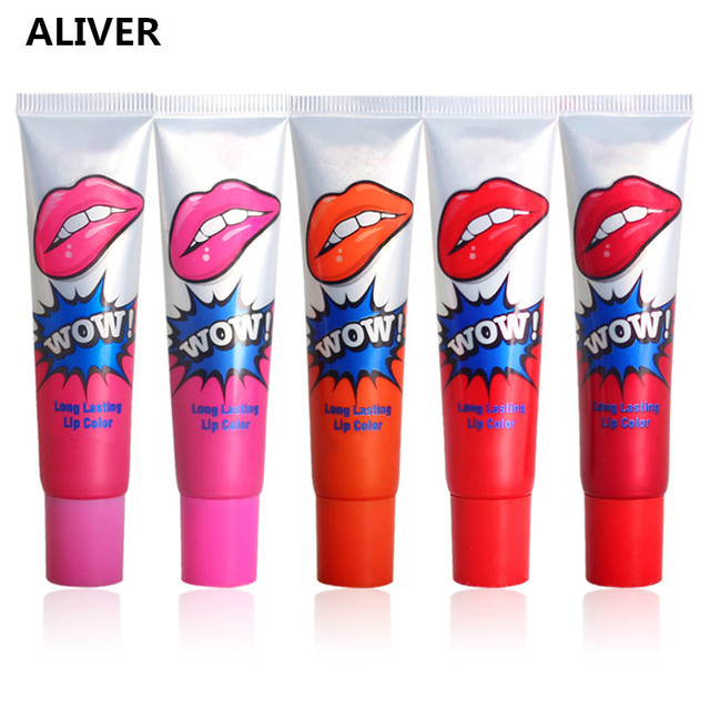 Aliver 6 Pcs/Set Romantic Long Lasting Lip Gloss Peel Off Lipstick Waterproof Lip Tint Makeup Lip Gloss Cosmetics  by Aliver
