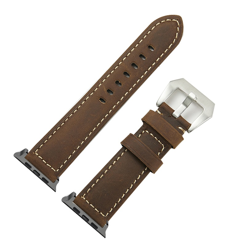 4 Colors Hot Sell Leather Watchband for Apple Watch Band Series 4 3 2 1 Sport  Bracelet 42 44 mm 38 40 mm Strap For iwatch 4 Band af4fba558de