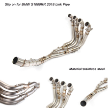 Motorcycle Stainless Steel Front Conneting Pipe Link 51mm Exhaust System Silp on for BMW S1000RR 2018