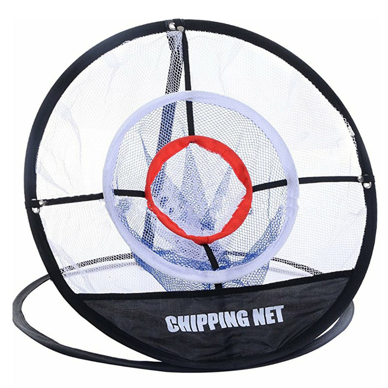 цена PGM Golf Pop UP Indoor Outdoor Chipping Pitching Cages Mats Practice Easy Net Golf Training Aids Metal + Net