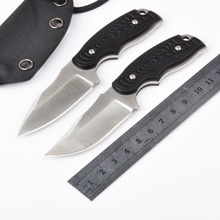 High Quality 59HRC 8CR13MOV blade G10 Full tang handle small fixed knife Outdoor camping tool survival pocket knives
