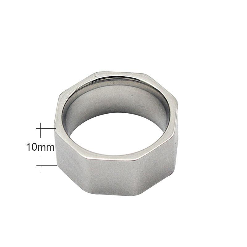 Nut Finger Ring roostevabast terasest ring naiste moe ehted ring - Mood ehteid - Foto 2