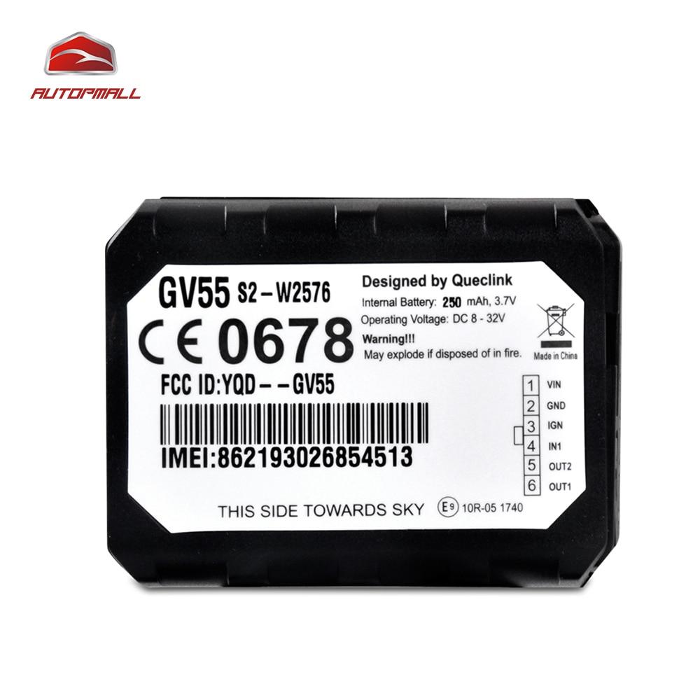 Mini voiture GPS dispositif de suivi GV55 Auto GPS GSM Tracker interne u-blox Chipset plusieurs Interfaces e/s