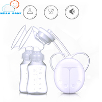 Double Electric Breast Pump Enlargement Postpartum Baby Feeding Double Breast Pumps Breast Milk Suckers Convenient Free