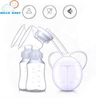 Double Electric Breast Pump Enlargement Postpartum Baby Feeding Double Breast Pumps Breast Milk Suckers Convenient Free