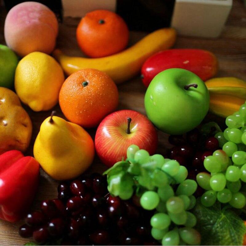 Frutas Y Verduras artificiales Falsos Adornos de Navidad Del Banquete de Boda De