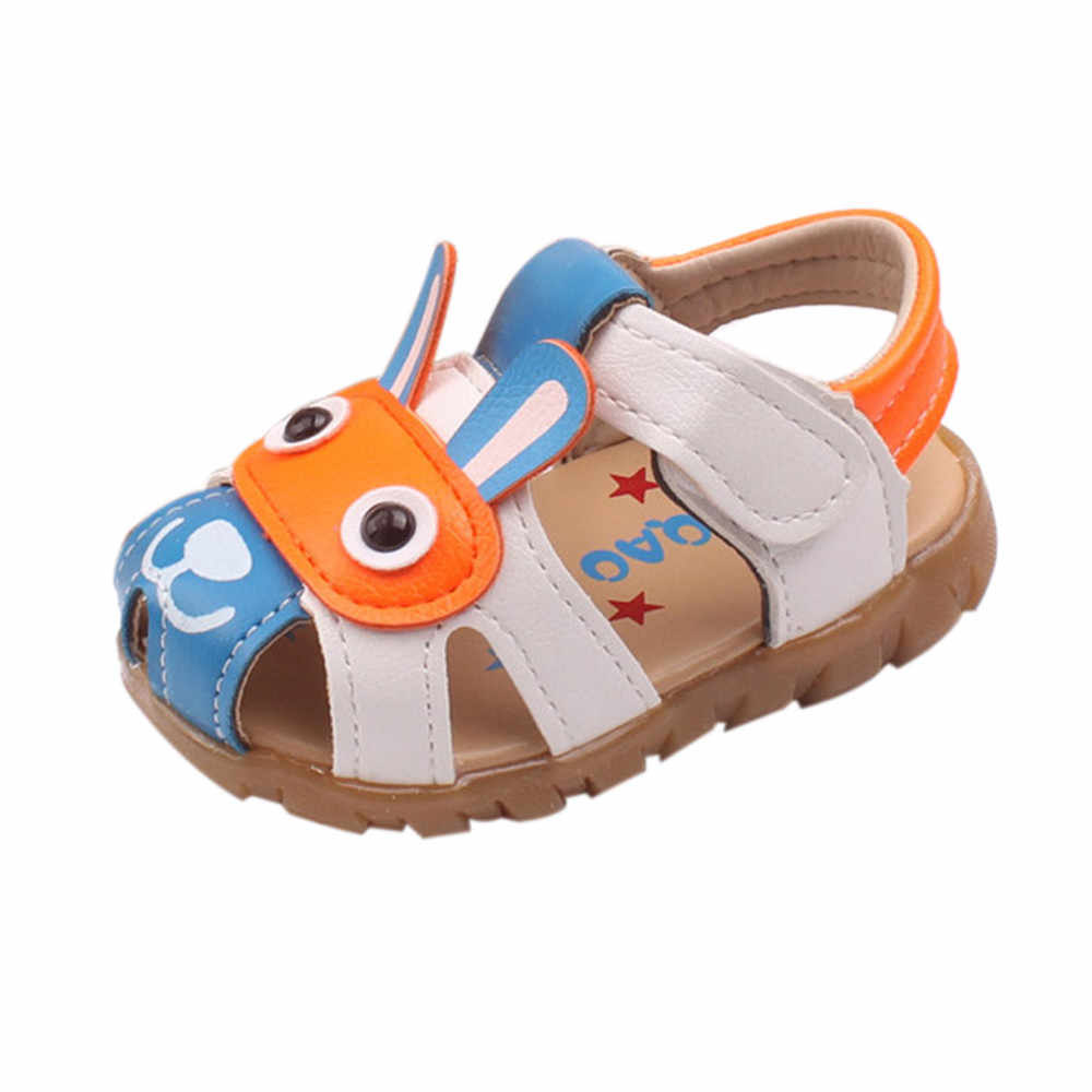 Toddler Kids Baby Boys Summer Shoes With Flashing Lights Sandals Cartoon Shoes fashion Shallow Mouth Princess Small Shoes  Mar 8