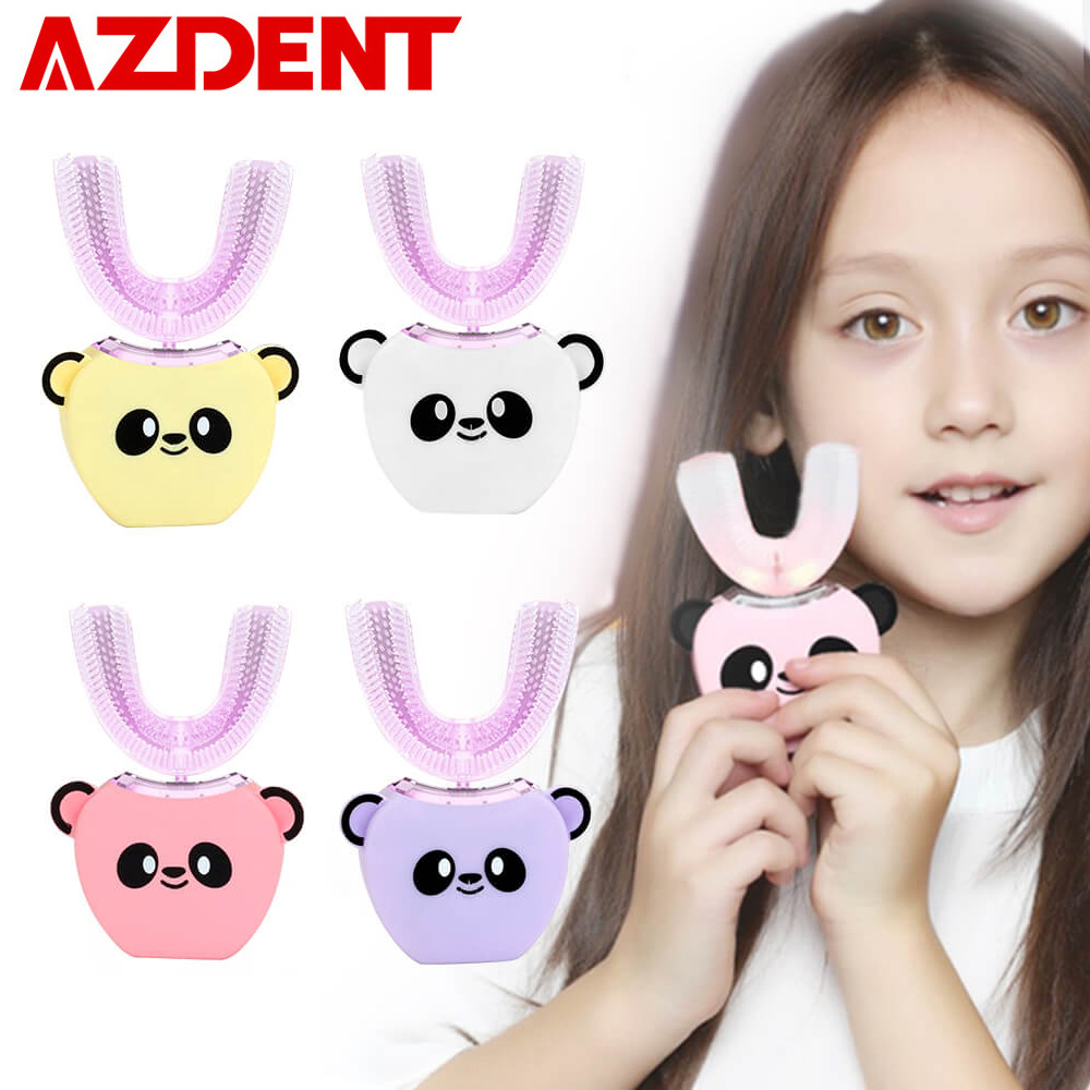 Smart U 360 Degrees Kids Sonic Electric Toothbrush Music Silicon Automatic Ultrasonic Teeth Tooth Brush Cartoon Pattern Children