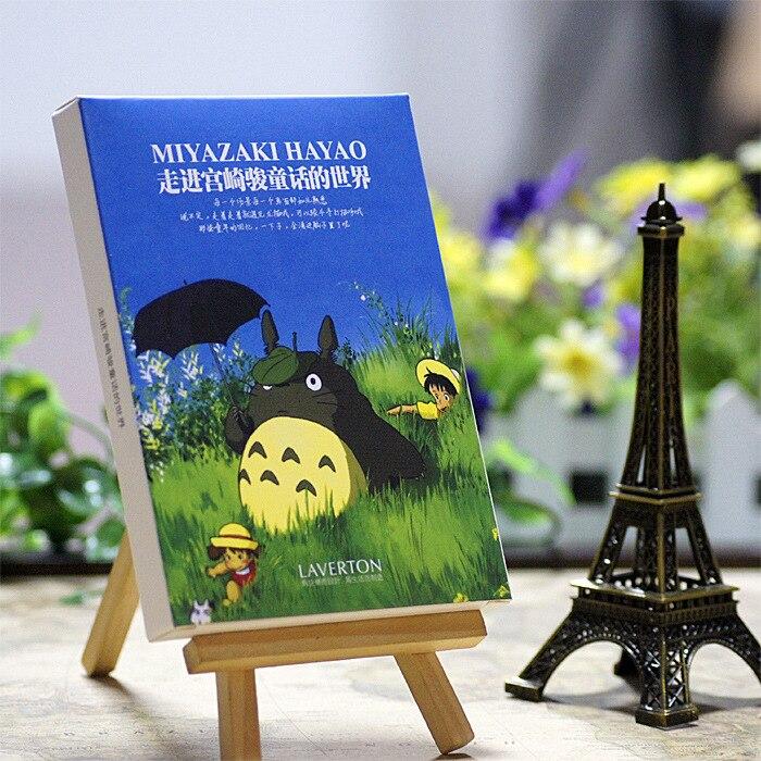 30 Blätter/los Hayao Miyazaki Öl Malerei Postkarte Hayao Miyazaki Postkarten/gruß Karte/wünschen Karte/mode Geschenk