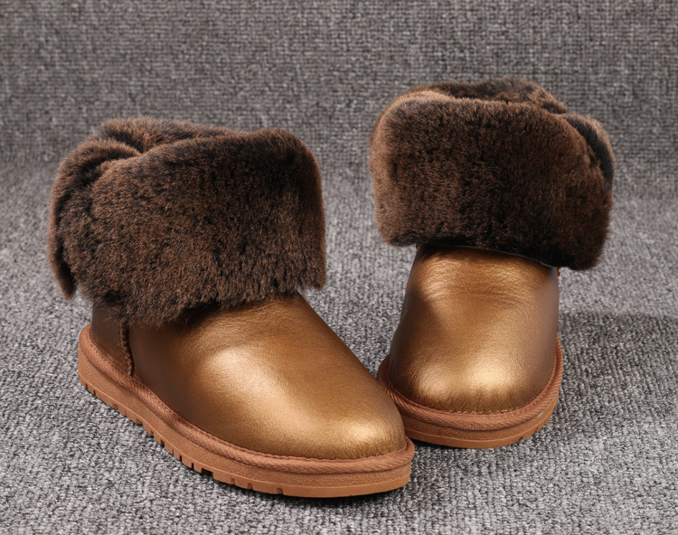 Top Quality Genuine Sheepskin Leather Winter Boots  Fashion Waterproof Snow Boots 100% Natural Fur Warm Wool Women Boots winter warm women boots high quality snow boots 100% genuine sheepskin and natural fur fashion boots free shipping