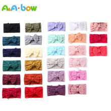 27pcs/set New Braid Bow Baby Girl Headbands Solid Wide Turban Newborn Head Wrap Hair Accessories for Babies 27 Colors