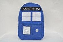 Mode heißer verkauf Doctor Who Tardis cartoon jugendliche schüler schultasche arbeit taschen männer Dr who mochila Police Box Rucksäcke