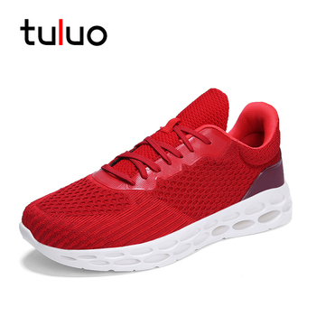 75006771e TULUO Лидер продаж Для мужчин s Спортивная дышащая обувь сетки Открытый Для  мужчин кроссовки модная обувь на шнуровке бег мужской кроссовки бо.