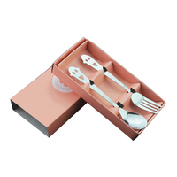 Fine Stainless Steel Cutlery Sets (Pink)