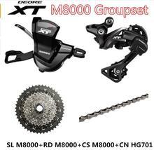 Shimano Deore XT M8000 список групп MTB Горный набор велосипедных компонентов 1×11-Speed 40 T 42 T 46 T SL + RD + CS + CN M8000 рычаг переключения задний переключатель