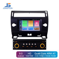 JDASTON Android 9.0 Car DVD Player For Citroen C4 Quatre Triumph GPS Navigation Audio Wifi Multimedia Stereo 1 Din Car Radio