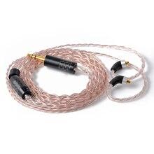 Высокое качество NICEHCK 3,5/2,5/4,4 мм балансный разъем MMCX 7N UPOCC смешанные 7N UPOCC Посеребренная кабель для SE846 LZ A6NICEHCK M6