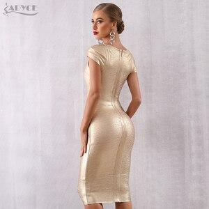 Image 5 - ADYCE Mùa Hè Mới Băng Váy Phụ Nữ Vestidos Verano 2020 Sexy V Neck Tắt Vai Người Nổi Tiếng Bên Váy Sexy Câu Lạc Bộ Bodycon ăn mặc