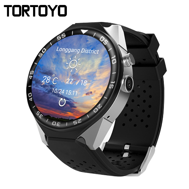 TORTOYO S99C Android OS 5.1 3G Smart Watch Phone MTK6580 512MB+4G/1G+16G Heart Rate Monitor Camera GPS WIFI Sports Wristwatch