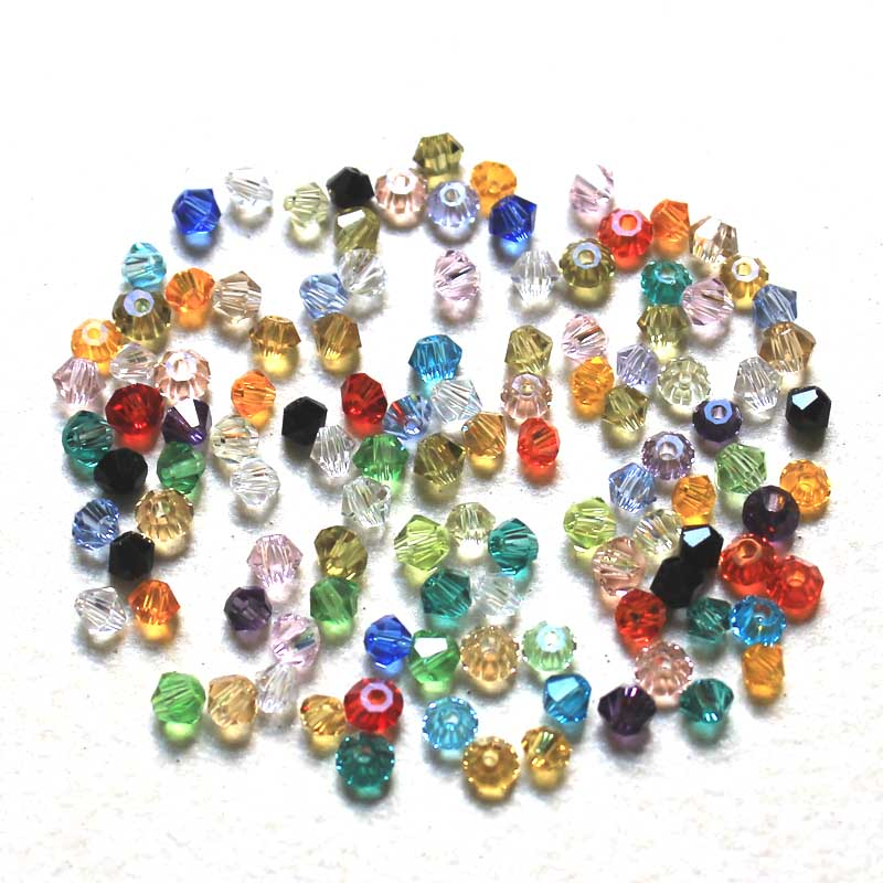AAA Crystal Bicone Beads 5301 200PCS LOT 3MM Czech Loose Crystal Beads Multi Colors Faceted Glass Beads for DIY Jewelry in Beads from Jewelry Accessories
