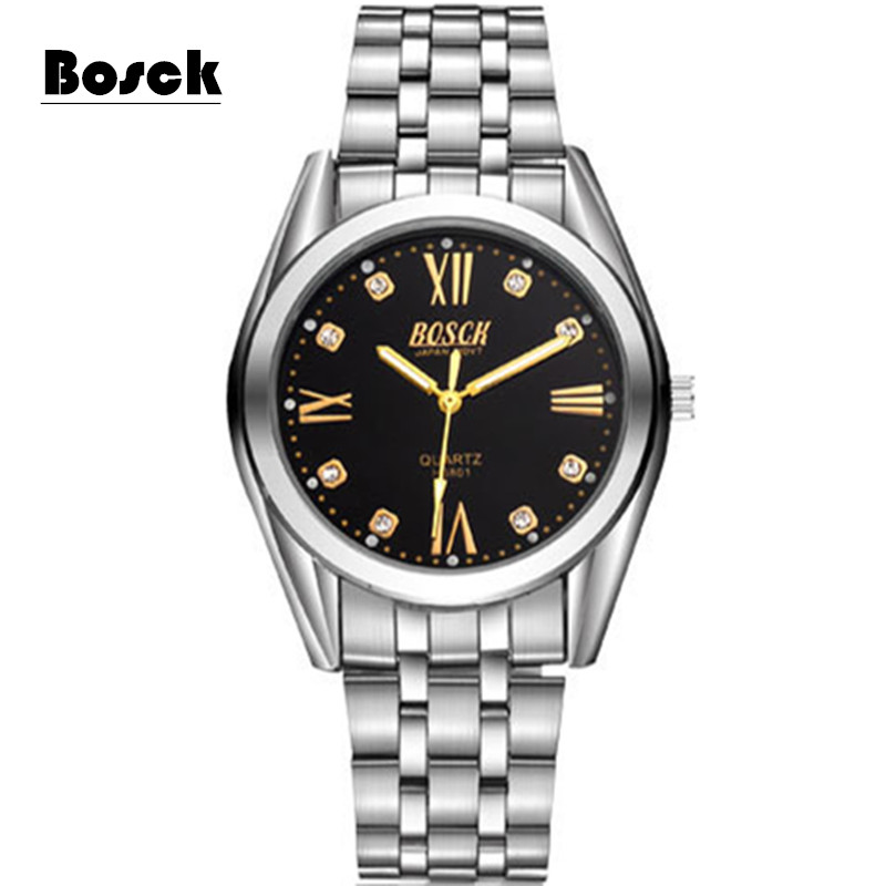 relogio masculino BOSCK Strip Luminous Surface Rhinestone Surface Quartz Men s Watch Waterproof Fashion Business Brand