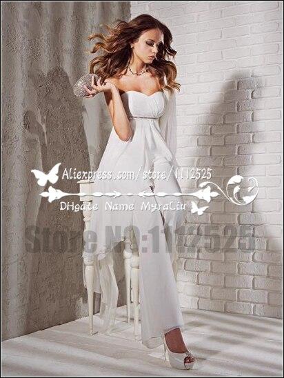 a65f7df21183 AWP 1010 Bianco Chiffon pant sutis per abiti da sposa da sposa tuta  pantaloni 2016 vendita calda in AWP-1010 Bianco Chiffon pant sutis per abiti  da sposa da ...