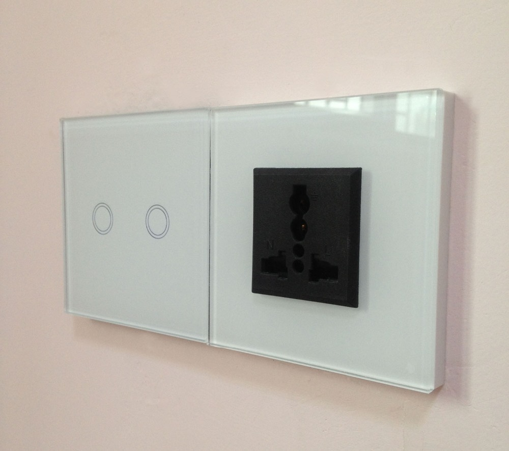 Free Shipping,UK Model home electronic touch wireless light switch ...