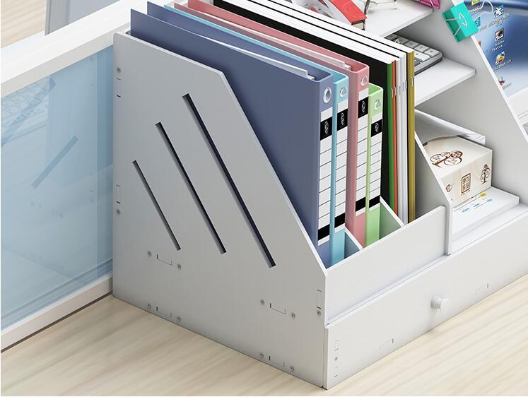 Многофункциональный DIY органайзер для журналов экологичный стеллаж для журналов коробка для файлов органайзер для книг уголок радости
