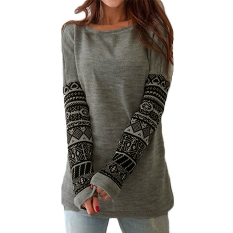 Print Long Sleeve T-shirt Women 2018 Autumn Winter Cotton Tops Slim Casual Tee Shirts Plus Size Loose Female T Shirt