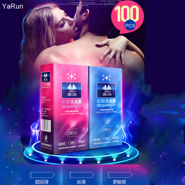 Adult Life Condoms 100 PC/Lot Natural Latex Smooth Lubricated Man Condom Contraception Condoms for Men Setxoy gay Sex Products