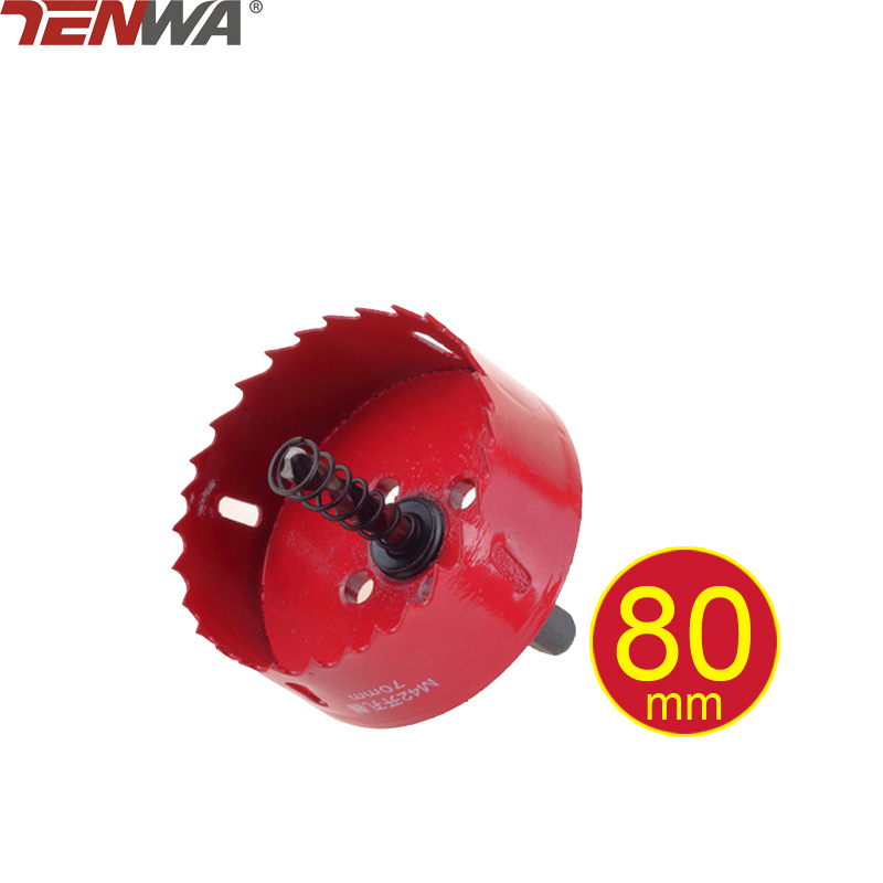 TENWA 80mm Bi-metal Hole Saw Core Drill Bit Power tools Metal Drilling Drill Bit Woodworking Wood Drilling Tools 3pcs 75mm 2 953in bi metal hole saw power tool metal drilling wood hole saw wood tool woodworking buy 2 more favorable