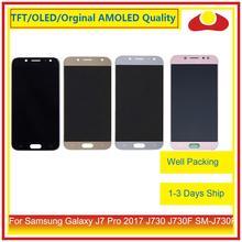 50 adet/grup DHL Samsung Galaxy J7 Pro 2017 J730 J730F SM J730F lcd ekran Ile dokunmatik ekran digitizer Paneli Pantalla Komple