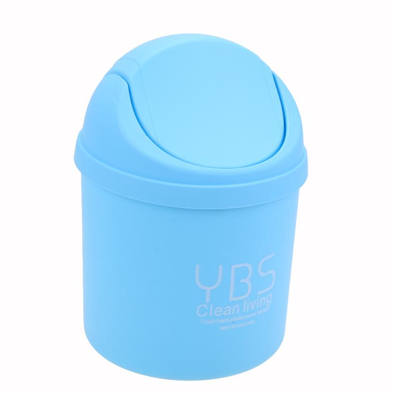 Mini Desktop Litter Bin Storage Box Waste Container Desktop Cleaning