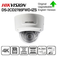 Hikvision Original DS 2CD2785FWD IZS Dome Camera 8MP POE CCTV Camera 50m IR Range IP67 IK10 H.265+ 2.8 12mm Zoom