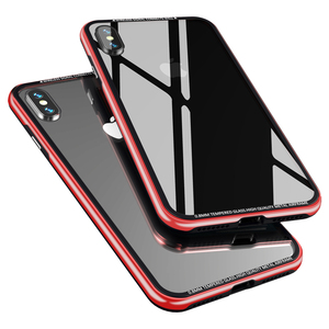 Image 2 - Luxury Thin Transparent Glass Case For iPhone XS XS Max Shockproof TPU Aluminum Metal Full Protection Cover Case For iPhone XR X