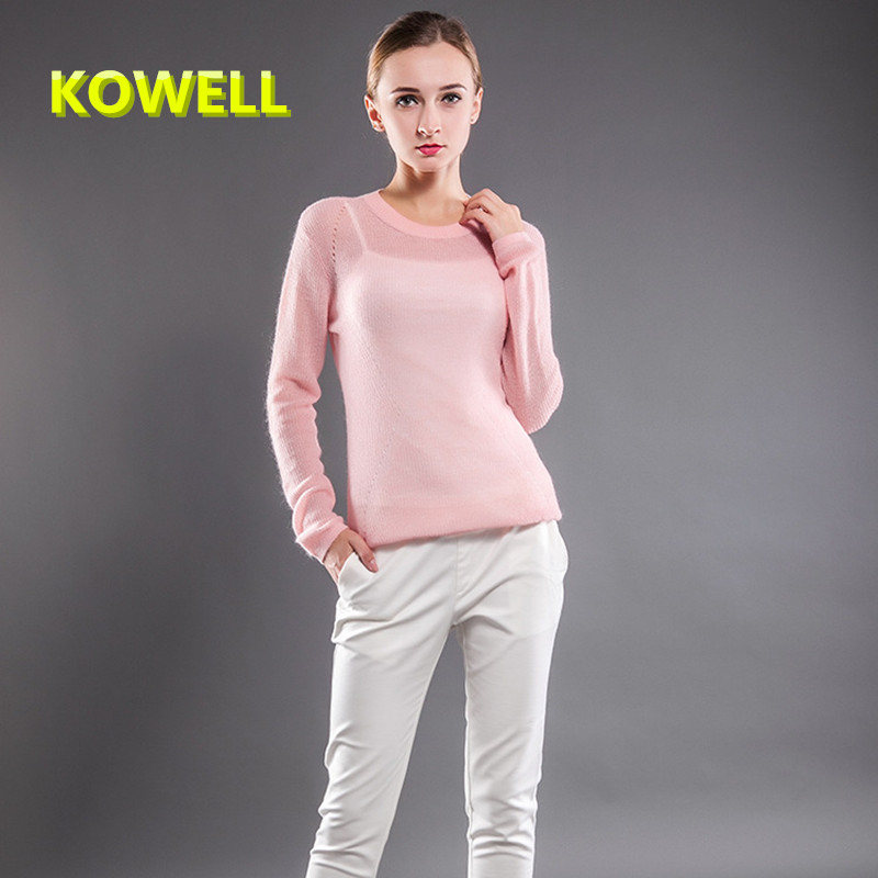 Лидер продаж Новые весенние модные женские туфли свитер одежда, Для женщин О-образным вырезом Для женщин трикотажные Пуловеры для женщин дл...