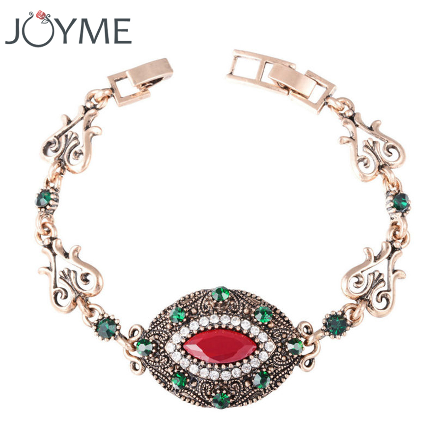 Inexpensive Charm Bracelets: 2016 Women Bohemian Bracelets Eye Green Crystal Femme Gold