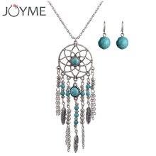 Винтажный Комплект сережек для женщин ожерелье с золотыми кисточками