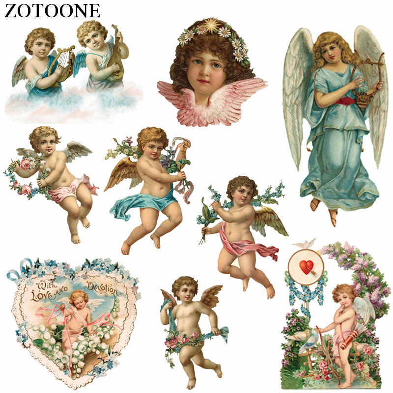 ZOTOONE Iron on Patches Pretty Angel Patches Diy Decoration Easy Print By Household Irons Parches Ropa A-Level Washable Patch C