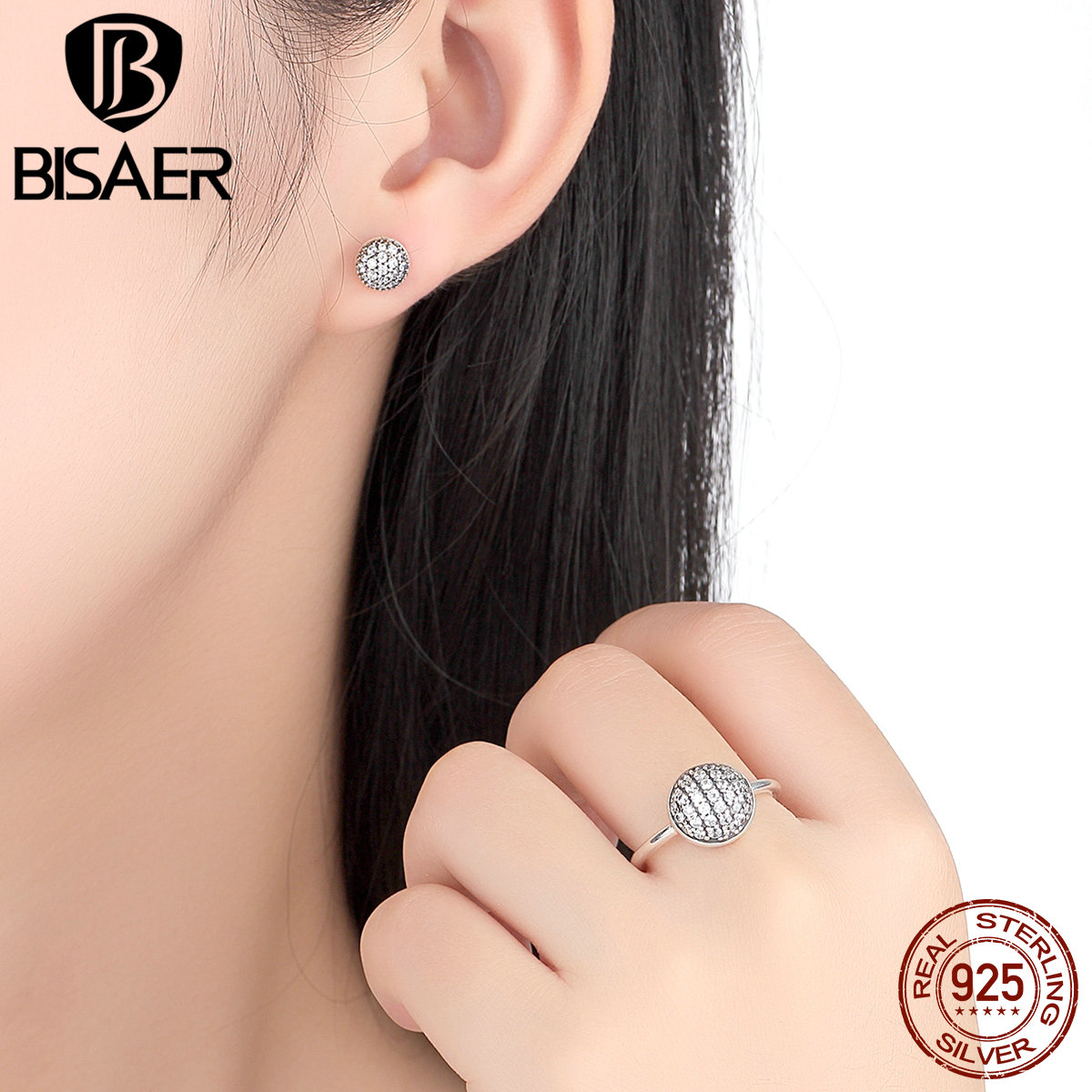 clear earrings accessories stud shining butterfly products tiny paved zirconia micro cubic silver ear collections insect delicate luoteemi shape