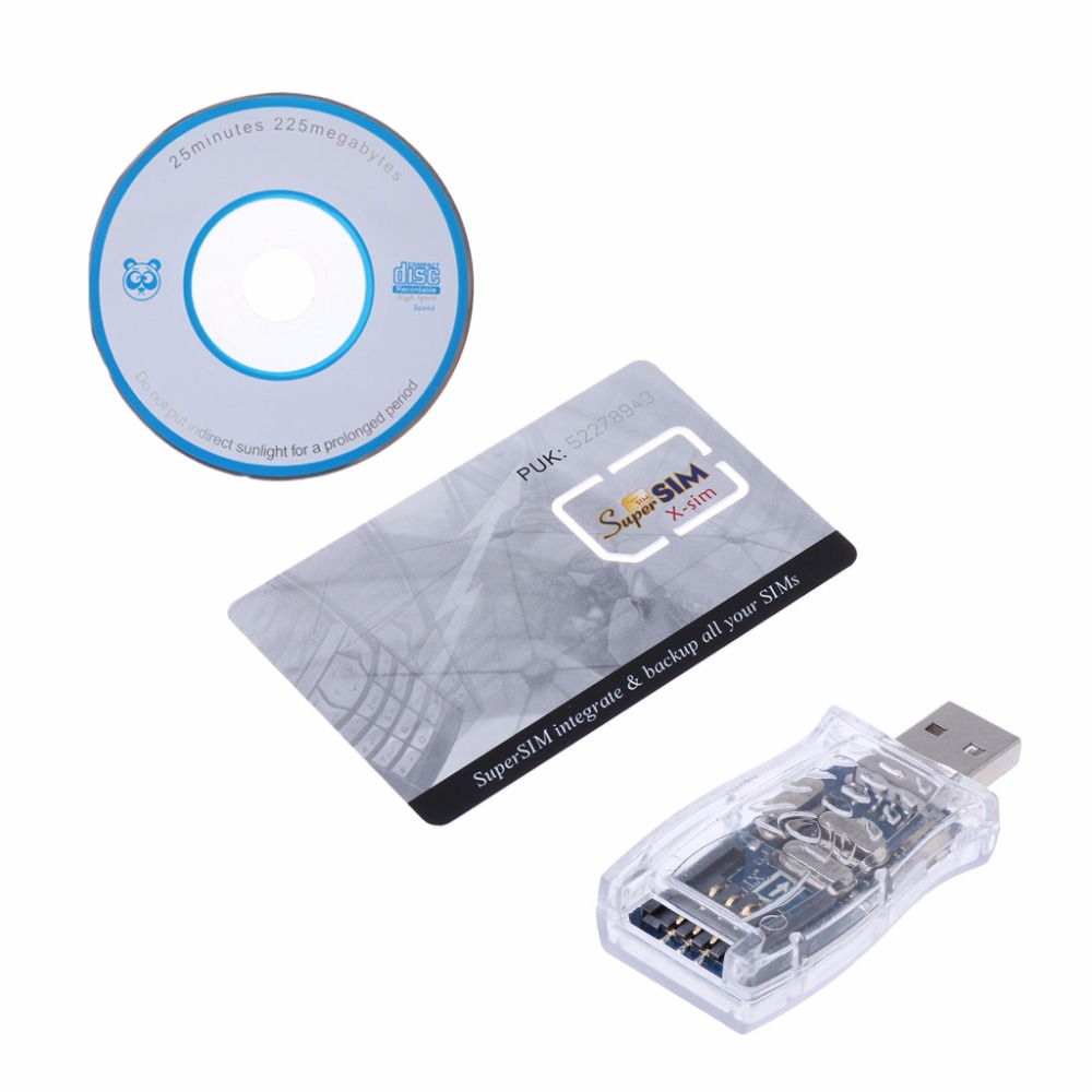 Hot USB 16 In 1 Super SIM Card Reader Writer Copy Cloner Backup With Driver CD Support For Windows 98/ ME/ XP/ 2000