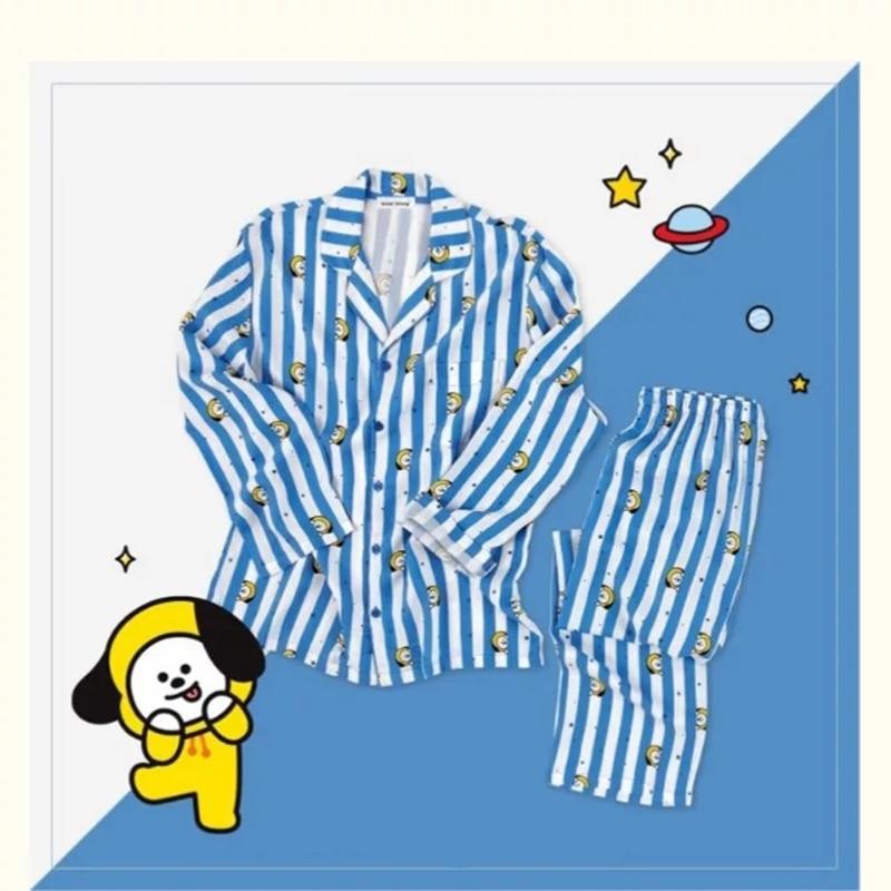 Neue Kpop Bantan Jungen BTS JUNG KOOK JIMIN V Gleiche Baumwolle Pyjamas Nighty Mann und frauen Bedgown Nachtwäsche Pyjamas set