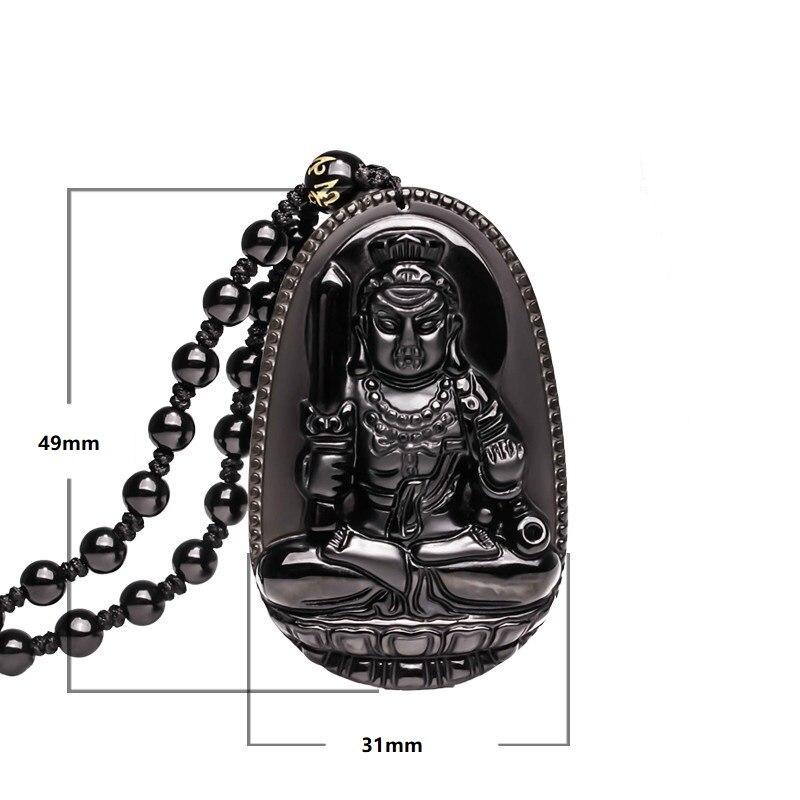 Բնական Բուդդա Սև Օբսիդիան Բուդդայի - Նուրբ զարդեր - Լուսանկար 6
