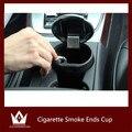 Senhor noite 1 pc Cigarro Termina Copo Fumaça Cinzeiro Ash Tray Armazenamento De Lixo Bin Para AUDI A3 A4 A5 A6 A7 A8 Q3 Q5 Q7 TT