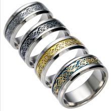TJP boutique fashion titanium steel jewelry dragon ring ring silver dragon men and women high quality stainless steel ring