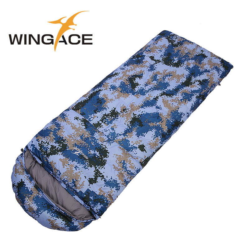 WINGACE Fill 400G 600G 800G 1000G Goose Down Ultralight Sleeping Bags Army Or Military Or Camouflage Camping Sleeping Bag